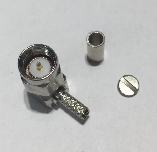 SMA-Stecker-Winkel Crimp für RG174