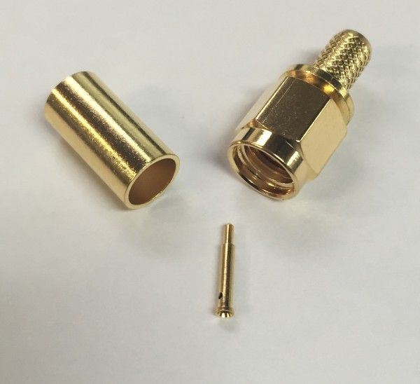 SMA Stecker crimp gold